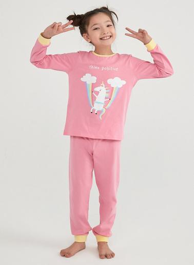 Penti Çok Renkli Kız Çocuk Playful Unıcorns Ls- 4Lü Pijama Takımı Renkli